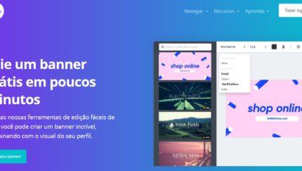 Como criar banners grátis para o seu site usando o Canva