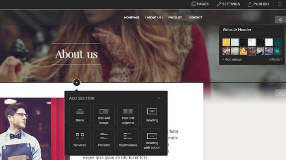 Criar site profissional na Webnode 2.0