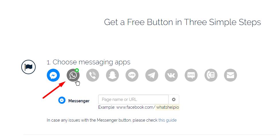 Botão de WhatsApp - WhatsHelp