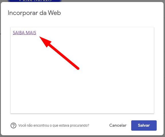 Botão animado no Google Sites