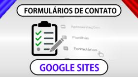 Como adicionar formulários de contato no Google Sites