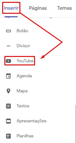 Vídeo no Google Sites